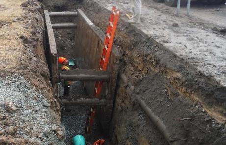 Washington Avenue, Rensslaer - Construction